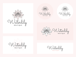 Feminin Corporate Identity Vector Set