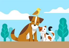 clipart animaux amis