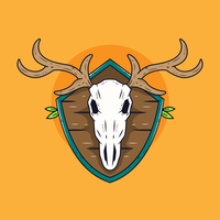 Deer-skull-vector