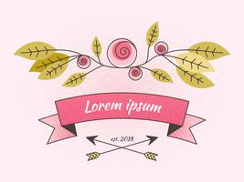 Beautiful Feminine Corporate Identity Vectors