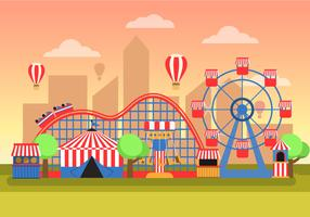 County Fair Landscape vector