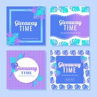 Instagram Contest Template Vector