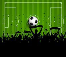 Fondo de fútbol o fútbol multitud