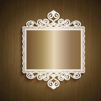 Decorative wood background vector