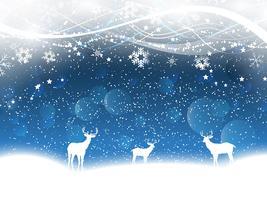 Jul bakgrund med rådjur