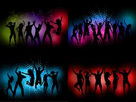 Party people backgrounds  vector