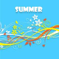 Floral summer background