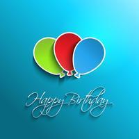 Fundo de balão feliz aniversário