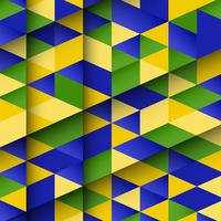 Dessin abstrait utilisant les couleurs du drapeau brésilien