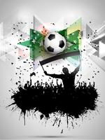 Grunge football / soccer crowd background vector