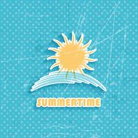 Grunge summer background