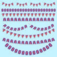 union jack bunting and decorations