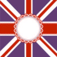 Union Jack flag themed background