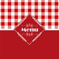 Gingham pattern menu design