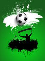 Grunge fotboll / fotbollsmassan bakgrund