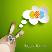 Fond de lapin de Pâques
