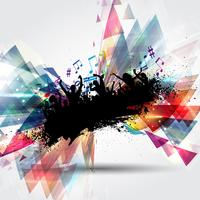 Grunge party people on abstract background  vector