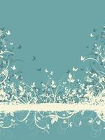 Floral grunge bakgrund