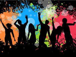 Grunge Party Hintergrund