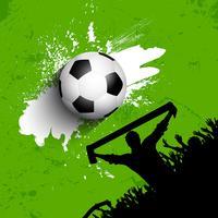 Grunge Fußball- / Fußballmengenhintergrund