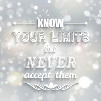 Inspirational quote background