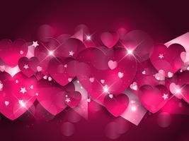 Fundo de corações rosa