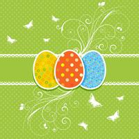 Fond floral d'oeufs de Pâques