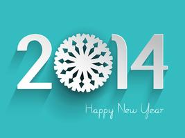 Happy new year snowflake background