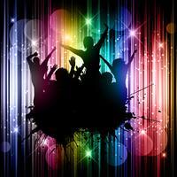 Grunge party background