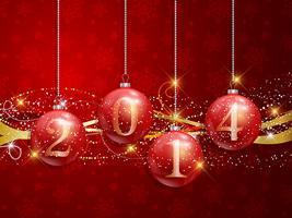 Gott nytt år baubles bakgrund