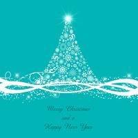 Fundo decorativo de árvore de Natal vetor