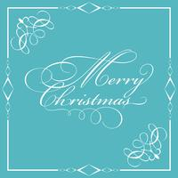 Decorative Merry Christmas wording