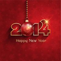 Fond de babiole de nouvel an