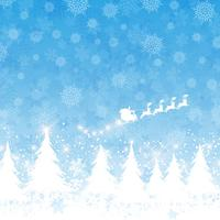 Christmas santa background  vector