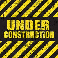 Grunge under konstruktion bakgrund