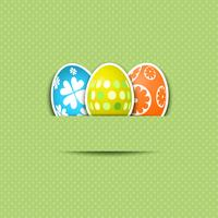Cute Easter egg background