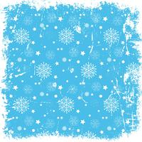 Grunge snowflake background