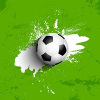 Grunge football / soccer ball background vector