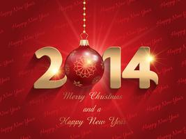 Happ New Year bauble background