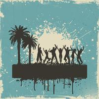 Grunge summer party background