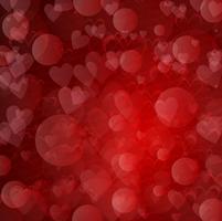 Día de San Valentín fondo de corazones