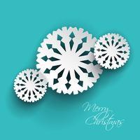 Copos de nieve de navidad