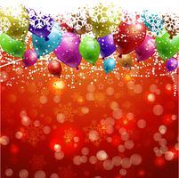 Kerst achtergrond met ballonnen