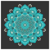 Vintage colorful Mandala with floral ornament. Boho style backgr vector