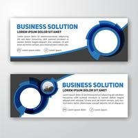Modern corporate banner background design