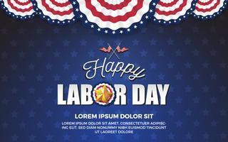 Happy Labor day background design. Vector illustration