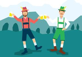 Mann in der Lederhosen-Illustration