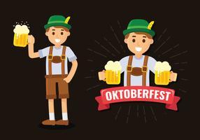 Homem de Oktoberfest em Lederhosen