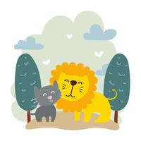 Animales Best Friend Vector Illustration