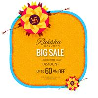 Sale banner or poster for indian festival of raksha bandhan cele